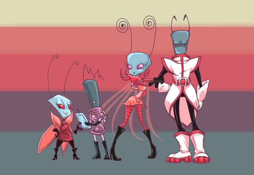 Palette Test: Main OCs by SkooIsCoo