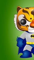 Tiger Batman Pop Wall by fourte3n