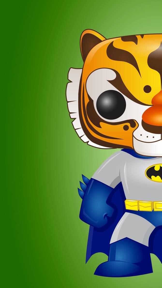 Tiger Batman Pop Wall