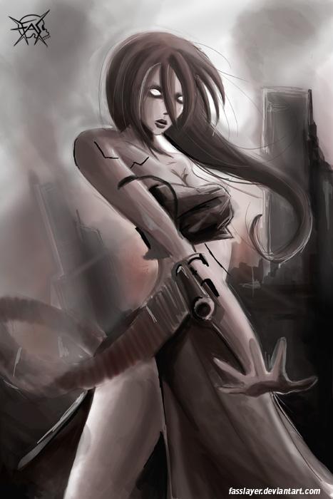 zombie machine girl 3 by FASSLAYER