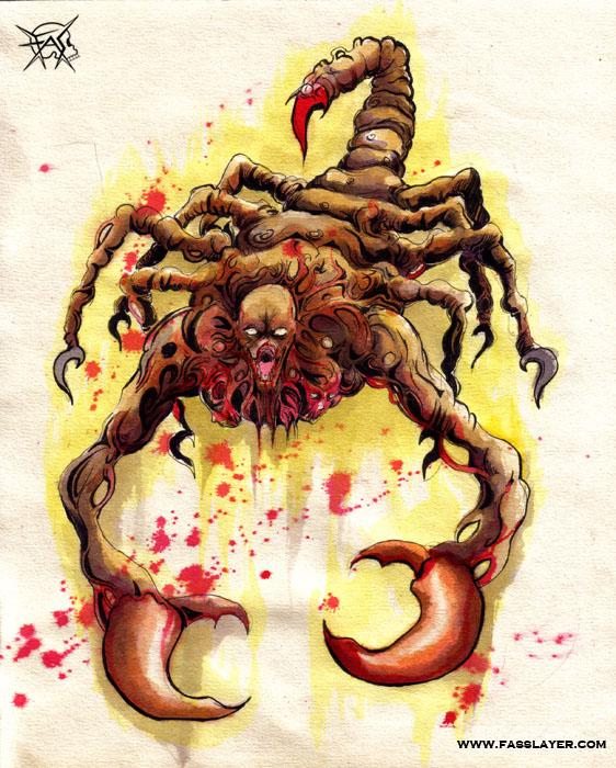 scorpion monster by FASSLAYER
