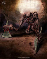 Axe Hands Monster 3 by FASSLAYER