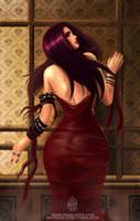 Vampire lady by FASSLAYER