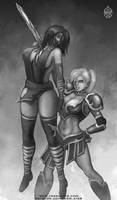 commission -  Koyasha and Taria by FASSLAYER