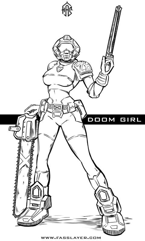 Doom Girl by FASSLAYER