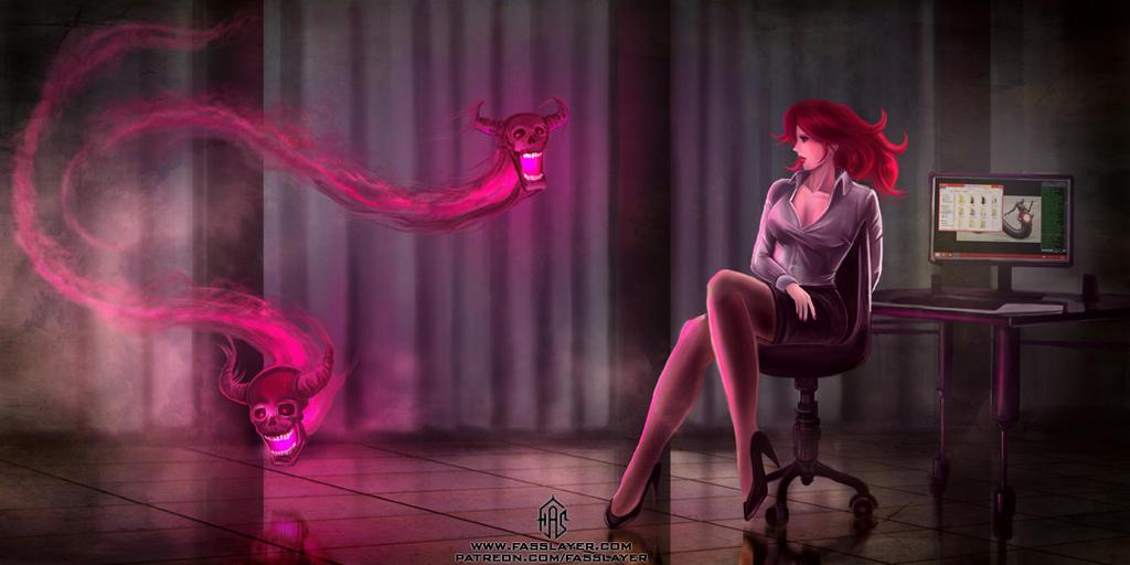 Secretary Witch by FASSLAYER