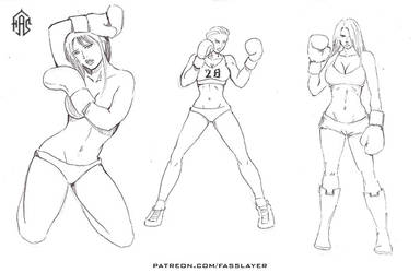 Boxing girls by FASSLAYER