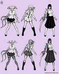 Zombie Schoolgirls by FASSLAYER