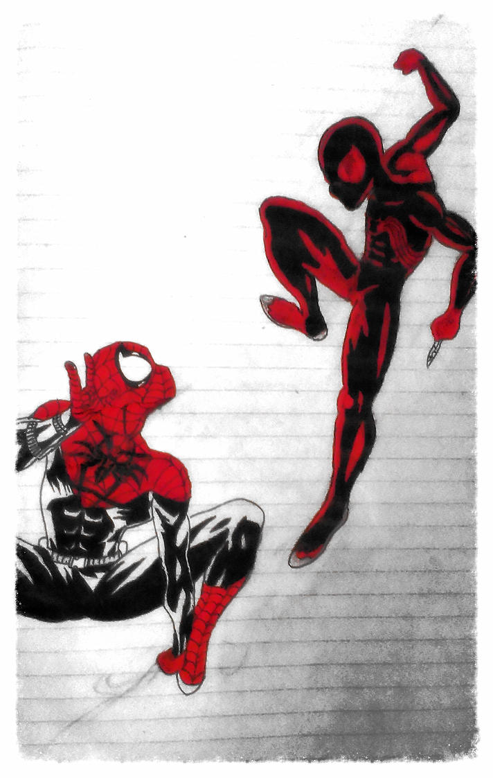 spiderman black and red - 712×1123