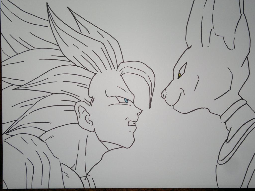 Colorear Goku Goku Ultra Instinto Dominado Para Colorear: Imagenes De Goku Ultra Instinto Dominado Para Colorear