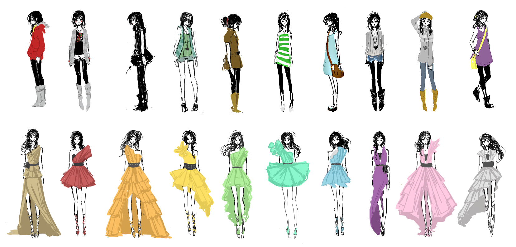 Scribble Fashion By Yamiaki On DeviantArt