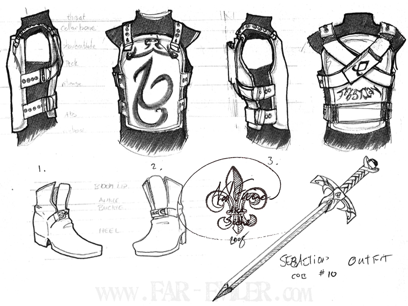 costume design - sebastian by far-eviler