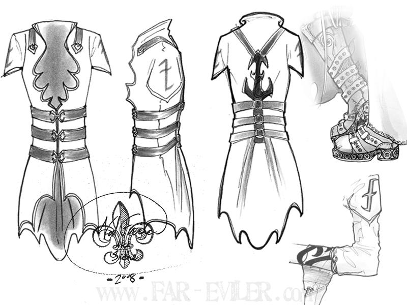 costume design - izzy by far-eviler