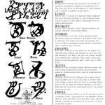 Tattoo - Runes III (Shadowhunter LOVE Edition)