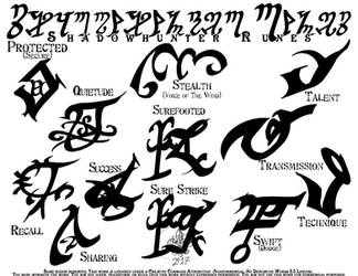 Shadowhunter - Glyphrunes Set 4 by far-eviler