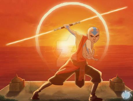 Avatar Aang Lightsaber Training