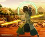Toph Lightsaber Training