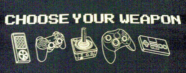 Gamers Choose your weapon by saria-the-elf