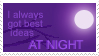Best ideas at night -Stamp- by nemekke