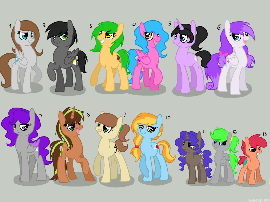 All my characters reference