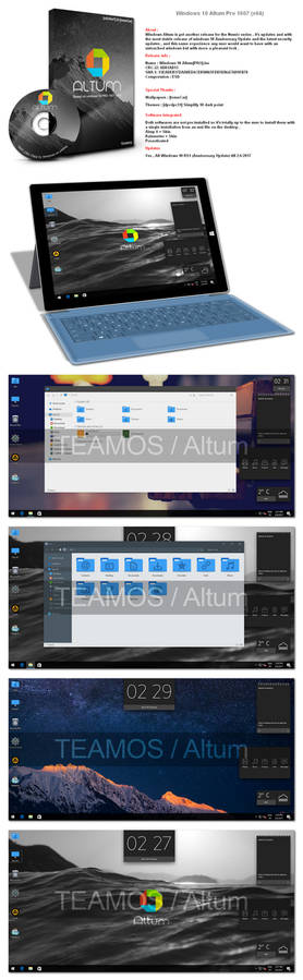 Windows 10 Altum Pro 1607 (x64)
