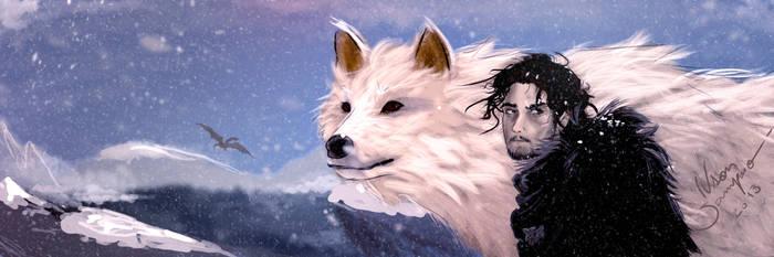 Jon Snow meets Skyrim by ivsonwild