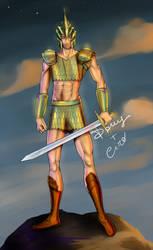 Male analogue of warrior in chainmail bikini :)
