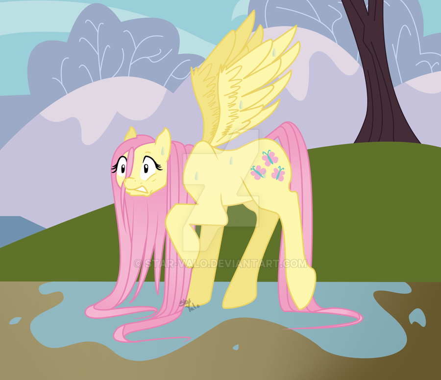 Drenched Fluttershy by Star-Valo