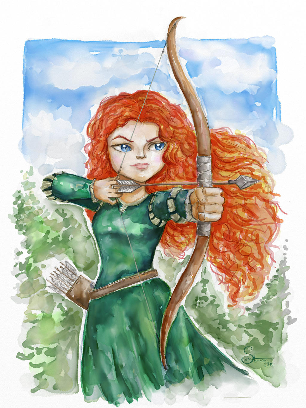 brave watercolor by bezawesome - photo #2