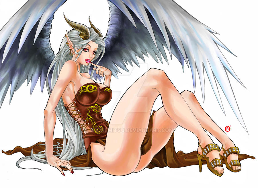 Commission 91-Devil Angel by shonemitsu