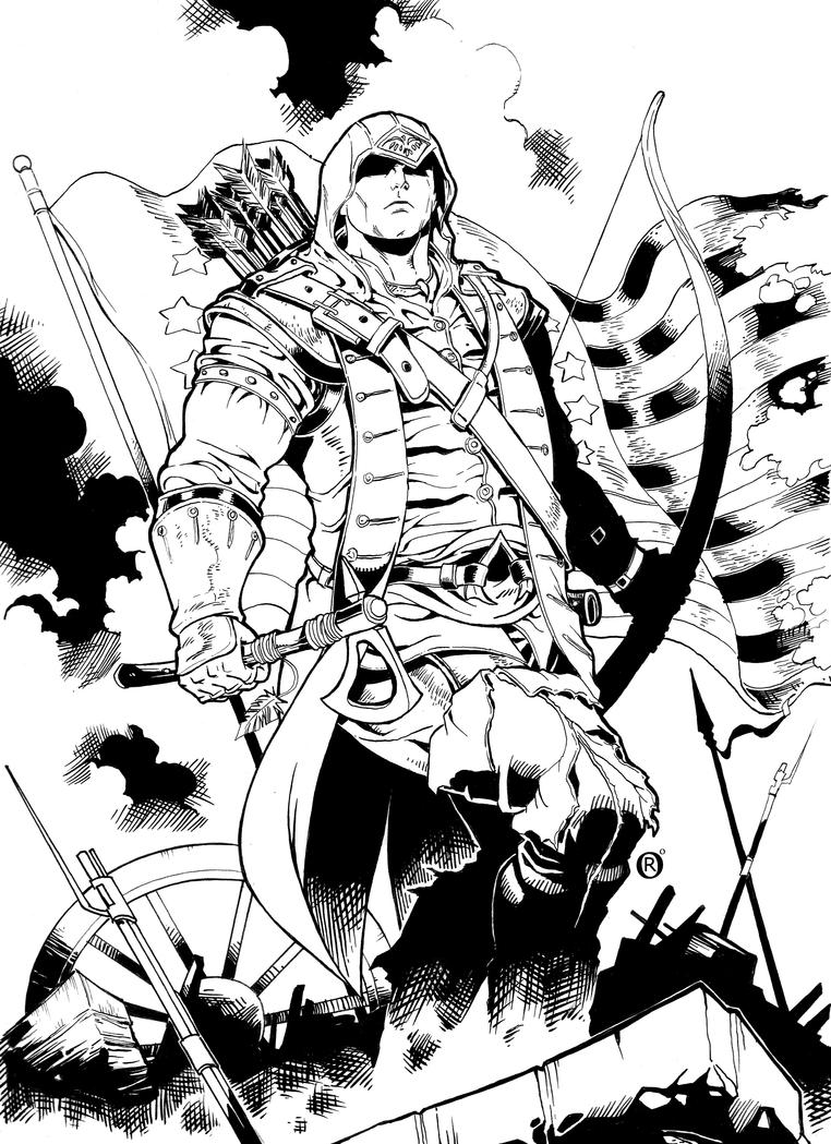 assassin s creed coloring pages - assassins creed 3 connor by shonemitsu on deviantart