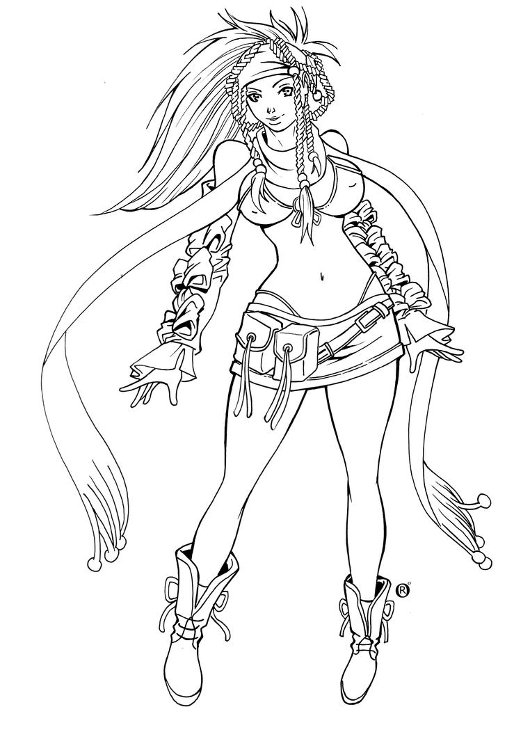 final fantasy coloring pages rikku final fantasy x by shonemitsu on deviantart
