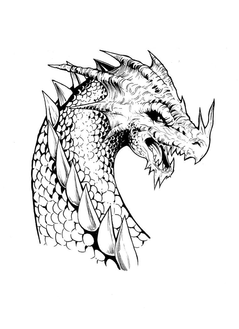 Dragon Face by shonemitsu on DeviantArt