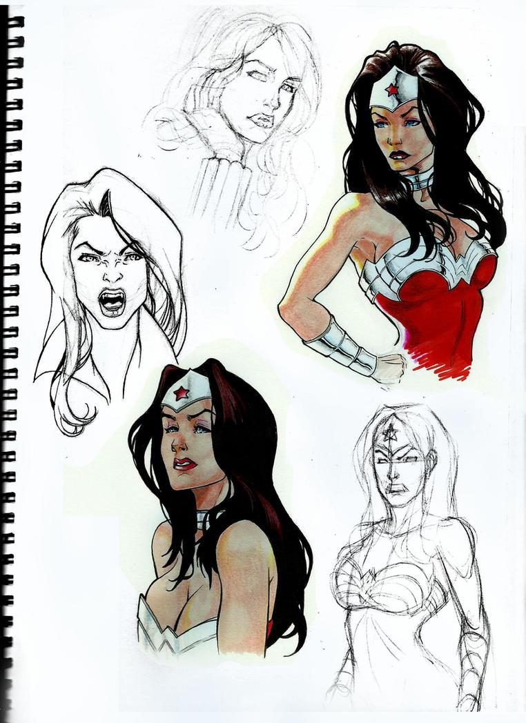 Wonder Woman - Training Colors 3 by shonemitsu