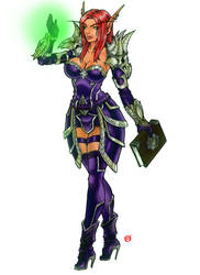 Elf  Wizard Girl - World of Warcraft by shonemitsu