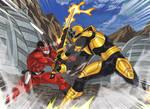 Commission - Super Sentai Battle