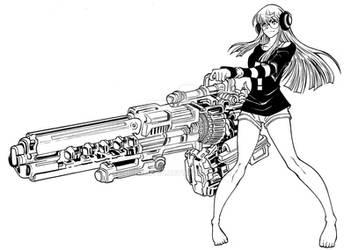 Commission Lineart - Futaba Sakura