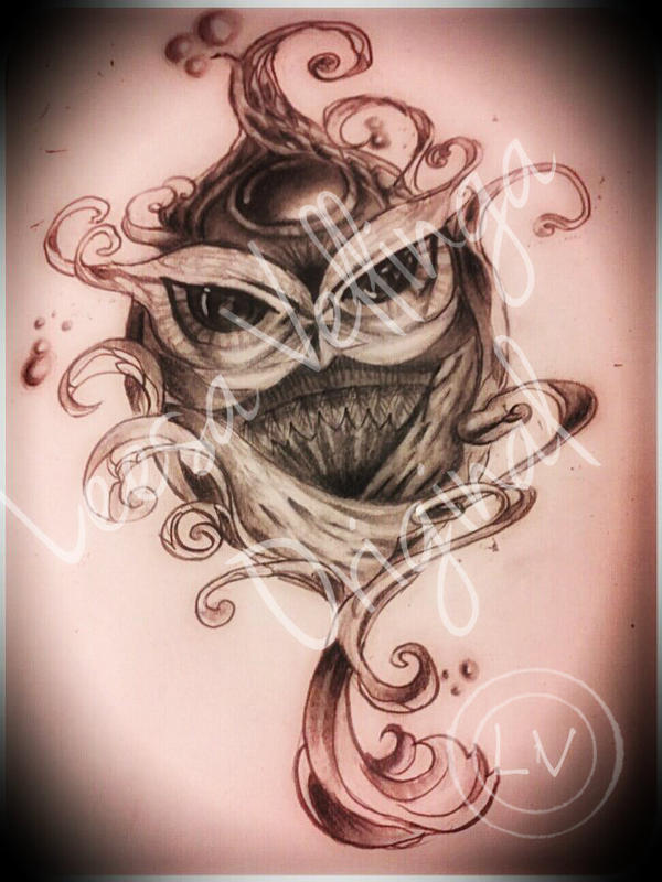 Owl Tattoo Drawing 2 by LilMejium