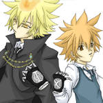 Giotto and Tsuna from KHR
