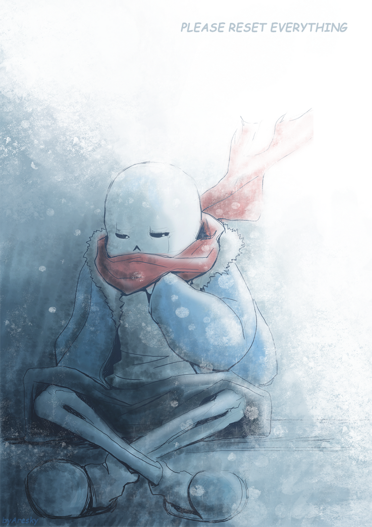Left Alone Sans - Undertale by Aresky