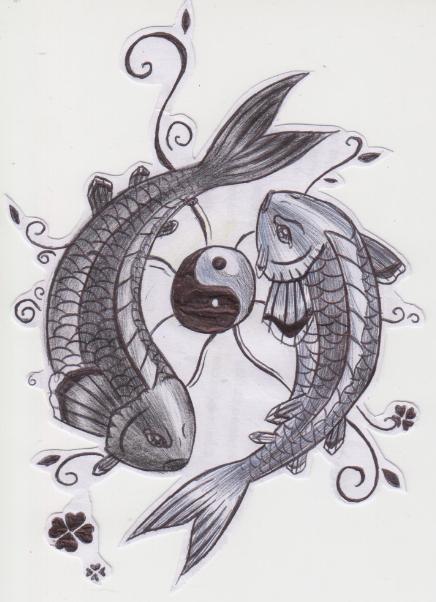 Yin yang koi fish by aylagigacz on deviantart for Yin yang fish