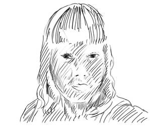Female face sketch by Superfluidity
