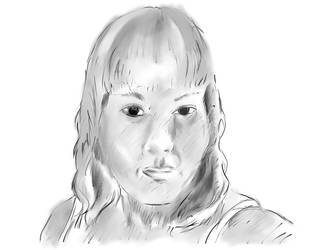 Female Face Finished by Superfluidity