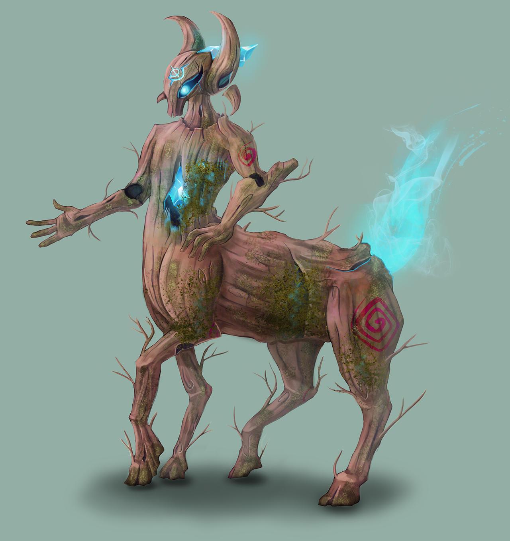 DnD Druid Warforged : Reeve by Jruva