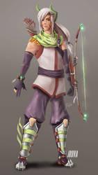 DnD Ranger / sorcerer multiclass : Keundol Ryong by Jruva