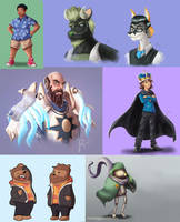 bunch of commissions by Jruva