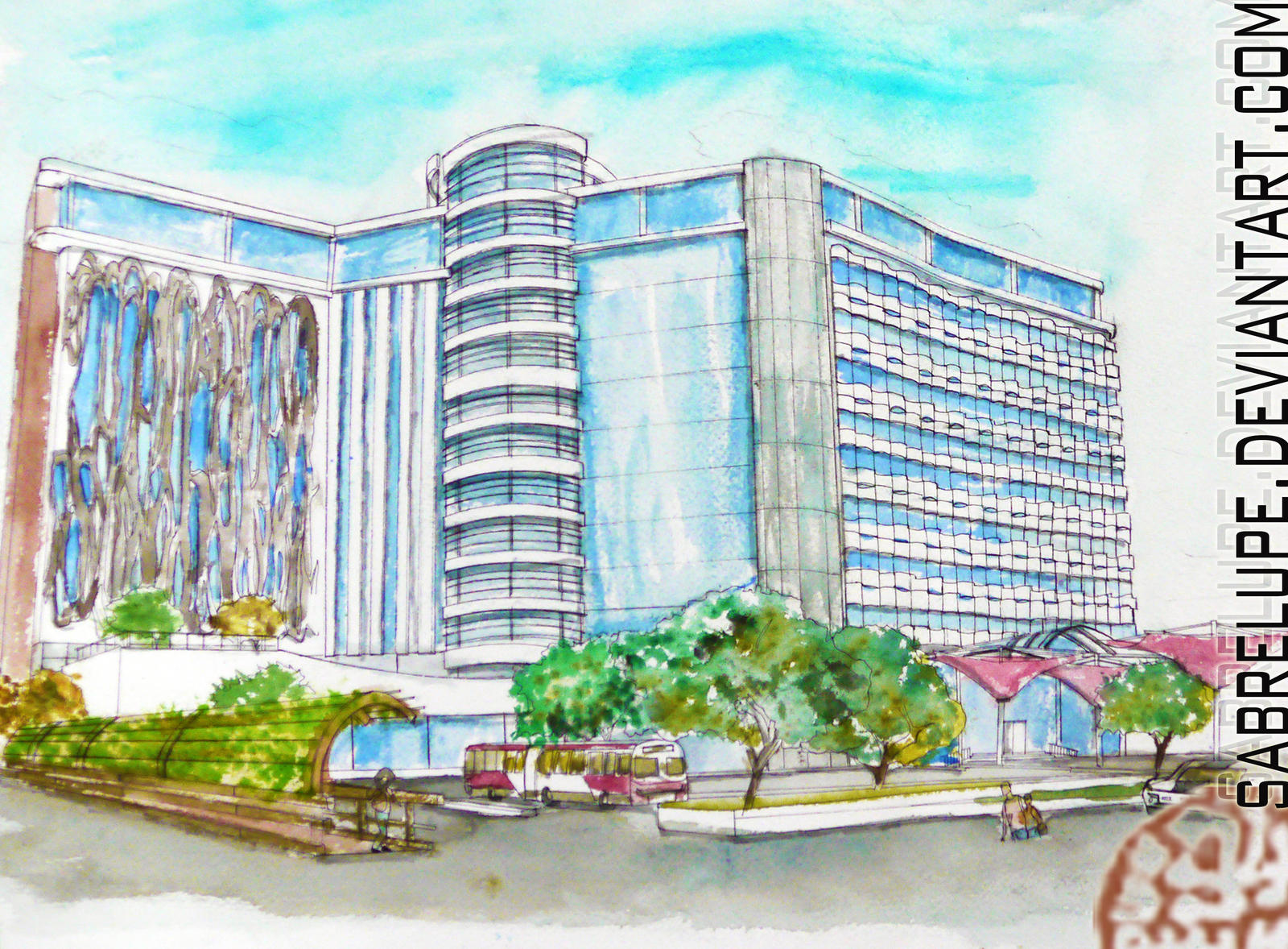 Hotel Designs contemporary hotel design in watercolorsabrelupe on deviantart