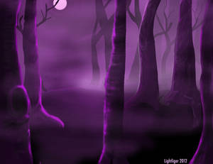 Creepy Forest Landscape