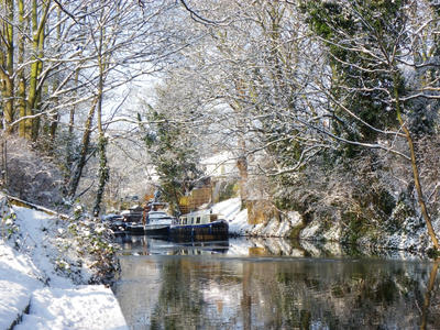 River in The Snow by standbyme123