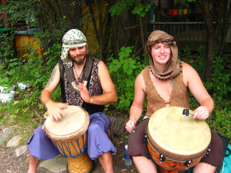 Drummers for the Hula Hoop Entertainment